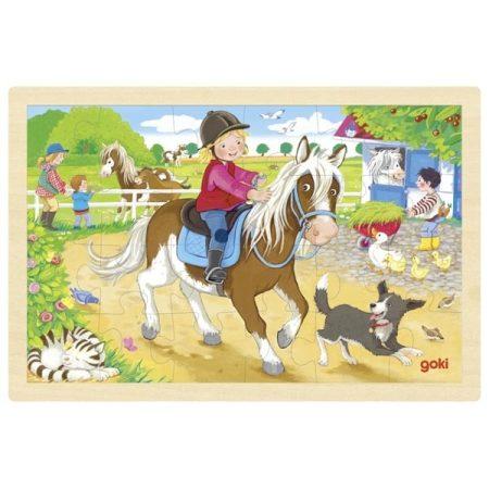 Fa kirakó, póni lovaglás